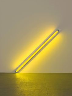 Dan Flavin, The diagonal of May 25, 1963 (to Constantin Brancusi), yellow fluorescent light, 244cm, 1963