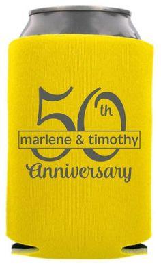 TWC-6205 - 50th Wedding Anniversary Can Coolers #koozies