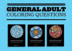 general questions regarding adult coloring books
