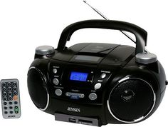 Jensen - Portable CD Player with AM/FM Stereo and MP3 Encoder/Player - Black, CD-750