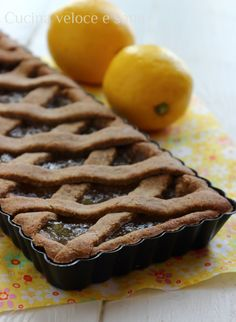 Crostata al grano saraceno e marmellata | Cucina veloce e sana Raw Food Recipes, Pie Recipes, Sweet Recipes, Dessert Recipes, Recipies, Torte Cake, Cake & Co, Healthy Cake, Vegan Cake