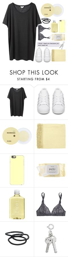 """""""you're scared, i'm nervous, but i guess that we did it on purpose"""" by iinfiniity ❤ liked on Polyvore featuring Acne Studios, adidas Originals, Korres, Surya, Casetify, philosophy, H2O+, Deborah Marquit, Goody and bedroom"""