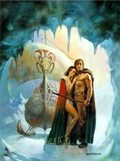 Boris Vallejo - The Ice Schooner. I can guarantee you they wouldn't be wearing those sort of clothes in a frigid environment like that, but instead wrapped in furs head to toes...