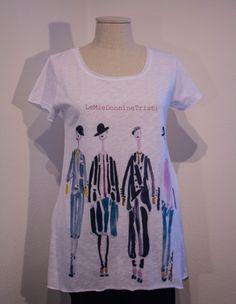T-shirt in cotone fiammato, taglio vivo.