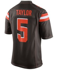 00075b6e9f0 Men s Tyrod Taylor Cleveland Browns Game Jersey