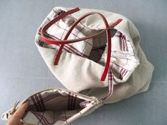 Sew a tote bag with leather handles. Photo Tutorial: Lined Canvas Tote | Step by step DIY