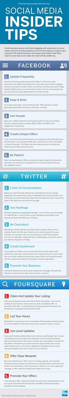 5 social media insider tips #socialMedia #MédiasSociaux
