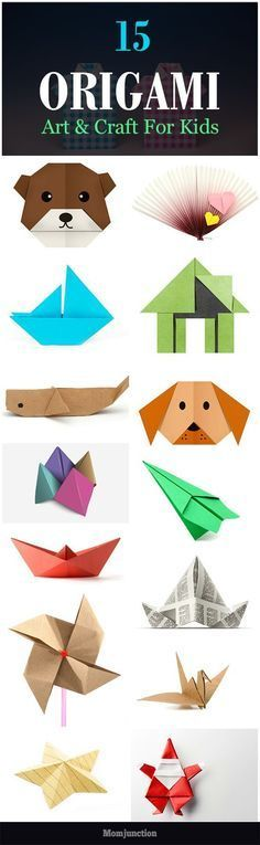 Top 15 Paper Folding Or Origami Crafts For Kids Is your child fond of making origami crafts? Are you looking for some origami tutorials for your creative child? Well, check out 15 origami crafts for kids. Diy With Kids, Kids Fun, Fun Things For Kids, Creative Ideas For Kids, Arts And Crafts For Kids For Summer, Simple Crafts For Kids, Arts And Crafts For Kids Easy, Creative Activities For Kids, Hobbies For Kids