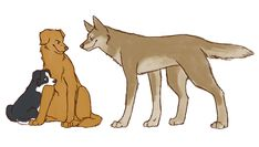 SPN dogs-Angel brothers by FourDirtyPaws.deviantart.com on @DeviantArt Cas, Gabe and Lucifer. They are perfecttt!!
