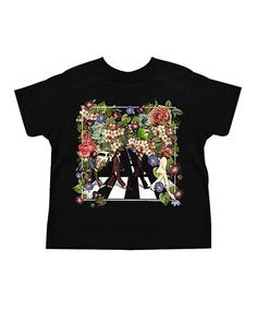 Love this Black Floral Abbey Road Tee - Toddler & Kids on #zulily! #zulilyfinds