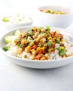 This Vegan Chickpea Curry recipe is a quick vegetarian dinner you can make in the Instant Pot electric pressure cooker. Loaded with plant-based protein!