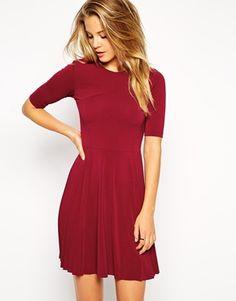 Enlarge ASOS Skater Dress with Pleat Detail Skirt