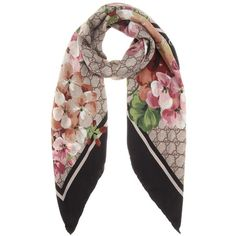 Gucci Printed Silk Scarf (22,410 PHP) ❤ liked on Polyvore featuring accessories, scarves, multicoloured, gucci shawl, colorful shawl, multi colored scarves, silk shawl and gucci