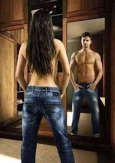 Picture of what transgendered men see every time they look in the mirror…