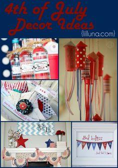 4th of July Decor Ideas!! { lilluna.com }
