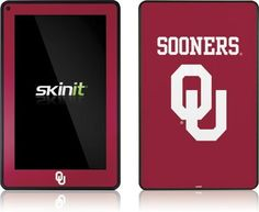 Skinit University of Oklahoma Sooners Vinyl Skin for Amazon Kindle Fire by Skinit. $19.99. IMPORTANT: Skinit skins, stickers, decals are NOT A CASE. Our skins are VINYL SKINS that allow you to personalize and protect your device with form-fitting skins. Our adhesive backing can be applied and removed with no residue, no mess and no fuss. Skinit skins are engineered specific to each device to take into account buttons, indicator lights, speakers, unique curvatur...
