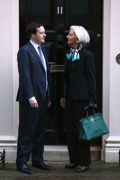 George Osborne in Christine Lagarde Visits George Osborne Image Fashion, 60 Fashion, Fashion Over 50, Work Fashion, Womens Fashion, Power Dressing, Lagarde Christine, Business Fashion, Stylish Older Women