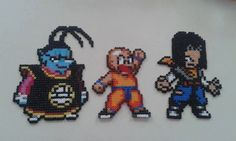 Dragon Ball Z characters perler beads by FimoParadise