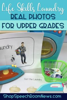 REAL Photos! Daily living skills or life skills focus on functional vocabulary and skills. This unit focuses on doing laundry. It features many different activities to target the functional vocabulary, sequencing, comprehension and more. The packet uses a story with the sequence of doing laundry, followed by activities to emphasize and practice the targeted vocabulary. Middle School, High School, Intervention Specialist, Monthly Themes, Everyday Activities, Speech And Language, Social Skills, Speech Therapy, Comprehension
