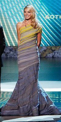 Heidi Klum wearing Christian Siriano