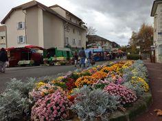 Itä-Ranskassa, Sveitsin rajalla sijaitseva pieni Thoiryn kylä ja ihanat sunnuntaimarkkinat