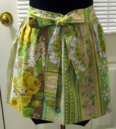 Vintage Pillowcase Apron I love up-cycling.