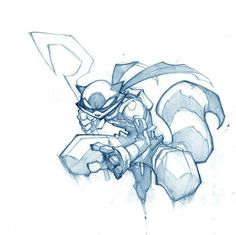 By Joe Madureira . Sly Concept Sketch / Drawing Art