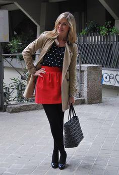 Zara in Trenches, Zara in Skirts, Carolina Herrera in Bags