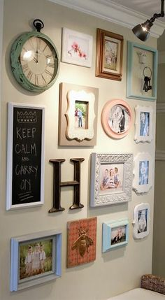 Check out this beautiful family gallery wall. Notice the spotlight highlighting…