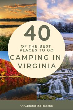 With 24 state forests, 38 state parks, 19 national park services, and tons of private campgrounds, Virginia has a plethora of amazing places to go camping. Best Places To Camp, Camping Places, Camping And Hiking, Outdoor Camping, Places To Go, Camping Gear, Family Camping, Tent Camping, Hiking Gear