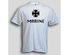 T-Shirt Marine  T-Shirt Marine deutsche Bundeswehr. Das Bundesmarine T-Shirt ist in den Größen S-3XL erhältlich. Auf dem Bundeswehr T-Shirt ist das Wort Marine sowie das Tatzenkreuz der Bundeswehr abgebildet. / mehr Infos auf: www.Guntia-Militaria-Shop.de