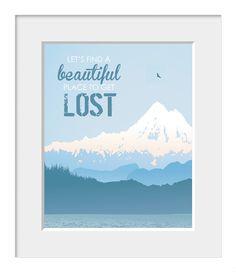 Landscape Typography PosterLet's Find A by printdesignstudio, $20.00