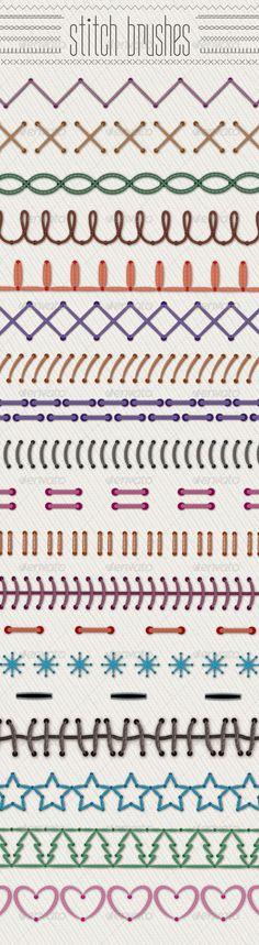 Novelty Illustrator Stitch Brushes - Brushes Illustrator