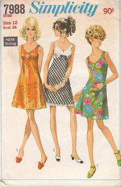 60s Bra Dress Pattern Simplicity 7988 by allthepreciousthings