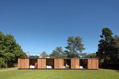 Galerie of Experimental Brique Pavillon / Estudio Botteri-Connell - 7 Residential Architecture, Amazing Architecture, Architecture Details, Brick Works, Garden Pavilion, Experimental, Brick Design, Cladding, Modern Design