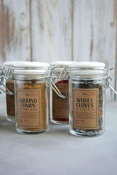 DIY Spice Jar Labels with Free Printable: and go to Whole Foods for other jars, and bulk spices!!