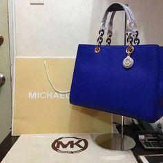 mk bag royal blue