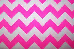 Riley Blake Cotton Chevron Baumwollstoff rosa weiß Neon Zick Zack