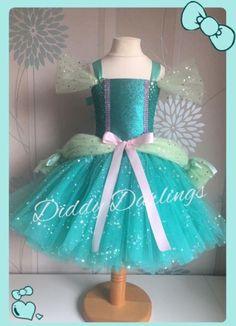 Brillante Ariel Tutu Vestido Little Mermaid Tutu Fiesta De Disfraces Princesa Ballgown