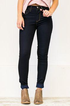 HIgh Waisted Dark Skinny Jean