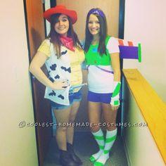Fun DIY Buzz and Woody Couple Costume...