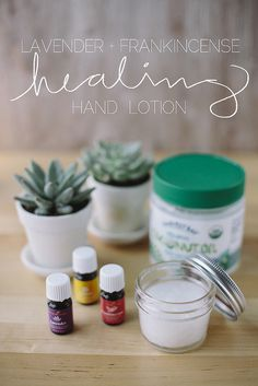 homemade healing hand lotion cup coconut oil (best to use cold pressed, extra virgin, organic, unrefined) 4 drops YL Frankincense Essential Oil 2 drops YL Lavender Essential Oil 1 drop YL Lemon Essential Oil Diy Lotion, Hand Lotion, Lotion Recipe, Homemade Scrub, Healing Hands, Young Living Oils, Essential Oil Uses, Organic Coconut Oil, Homemade Beauty Products
