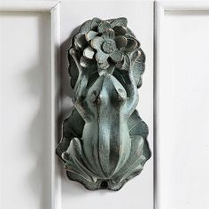 Frog On A Lily Pad Door Knocker