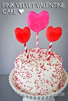 This cake uses one of my favorite recipes – Pink Velvet! Perfect for Valentine's Day Dessert!