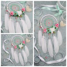 Dreamcatcher white Dream Catcher roses Dreamcatcher Dream