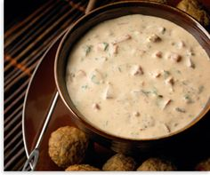 Yummy! Tomato Basil Cheese Fondue served with mini meatballs!  Let the football season begin!