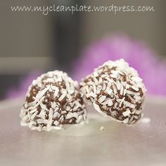 choc caramel snow balls