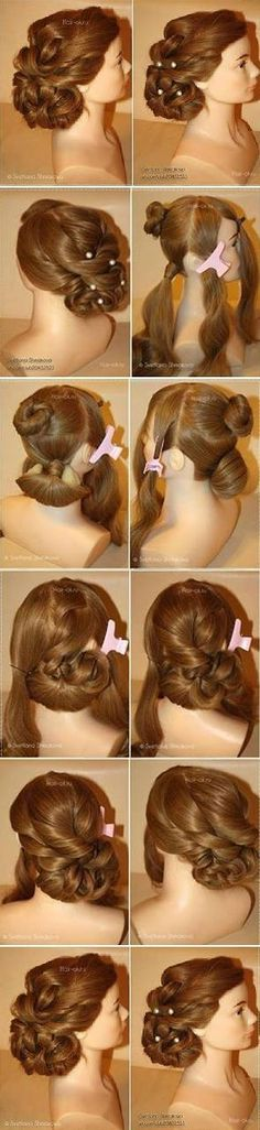 Evening Hairstyle Tutorial. This looks really, really, really, really, really hard to do
