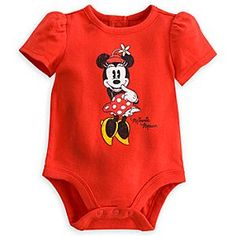 Minnie Mouse Vintage Disney Cuddly Bodysuit for Baby | Disney StoreMinnie Mouse Vintage Disney Cuddly Bodysuit for Baby - She'll make playtime stylish in Minnie's Disney Cuddly Bodysuit featuring puffed sleeves, distressed vintage-era Minnie screen art and snaps on bottom for easy on and off.