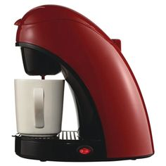 Brentwood Single-cup Red Coffee Maker